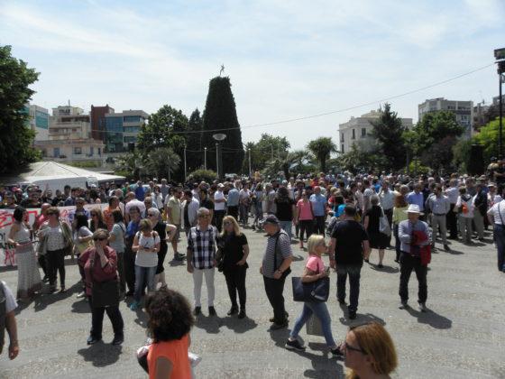 Συλλαλητήριο κατά της κατασκευής διοδίων στην Καβάλα